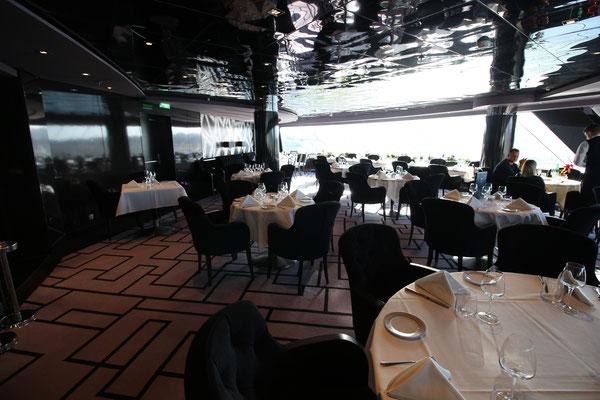 Das Restaurant im MSC Yacht Club