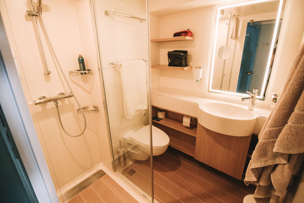 Das Badezimmer - schlicht und einfach