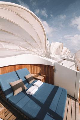 Cabanas können kostenpflichtig dazugebucht werden
