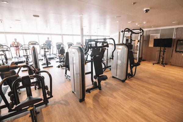 Das bordeigene Fitnessstudio
