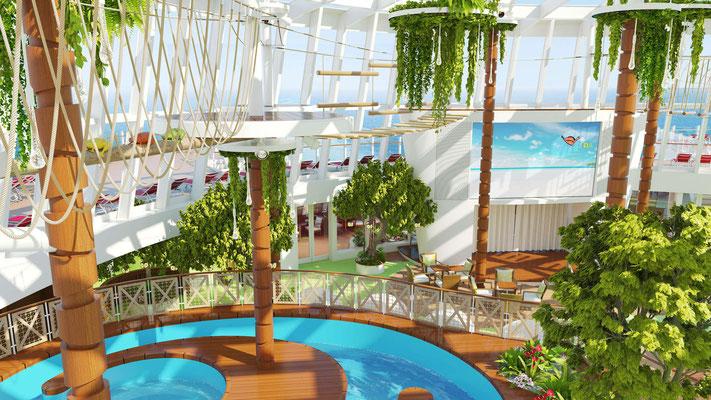 Der Kletter- und Wasserpark an Bord / ©AIDA Cruises