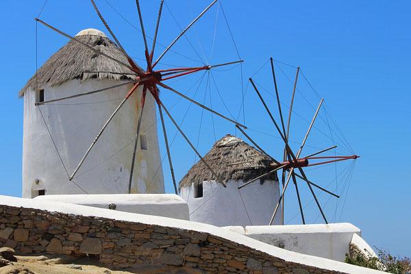 Windmühlen bei Mykonos-Stadt