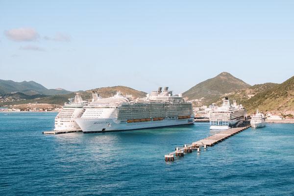 Einfahrt auf St. Maarten