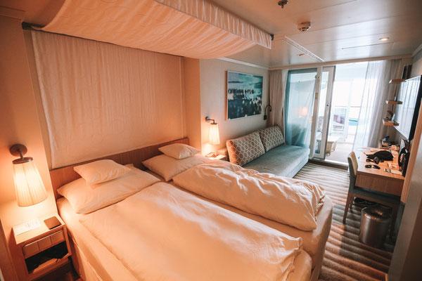 Meine Verandakabine Komfort mit Lounge auf Deck 9