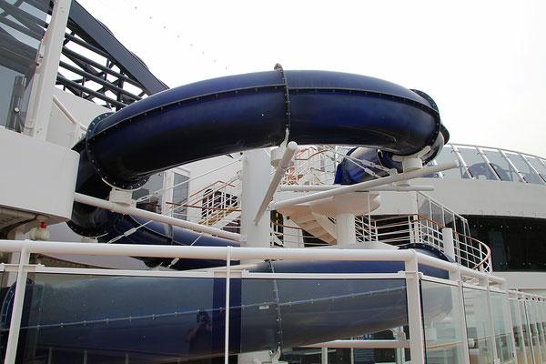 kleine Wasserrutschbahn auf der MSC Fantasia