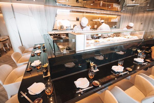 Das Sushi Restaurant auf Deck 8