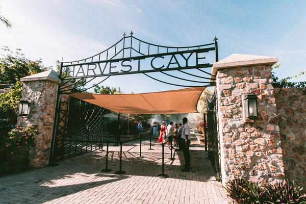 Eingang zur Insel Harvest Caye