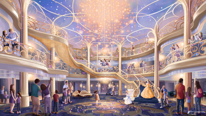 Das Atrium der Disney Wish