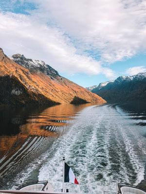 Einfahrt in den Geiranger Fjord