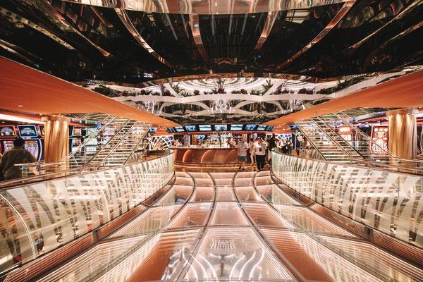 Das prunkvolle Casino an Bord