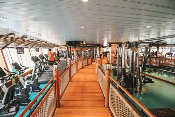Das Fitnessstudio an Bord