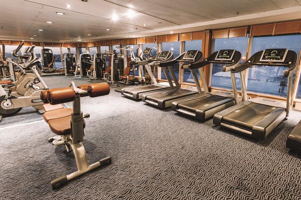 Das Fitnesscenter an Bord
