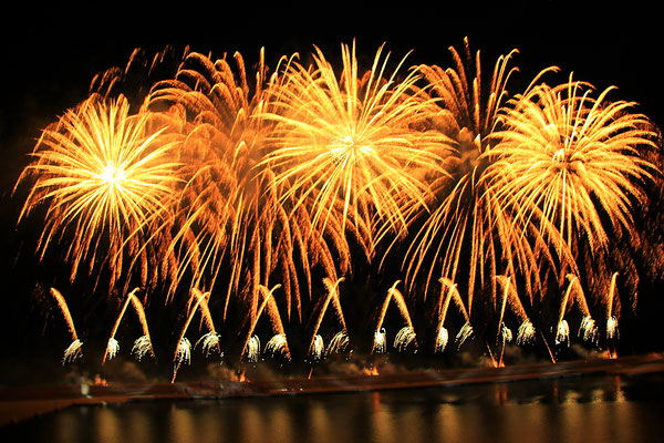 Grandioses Feuerwerk am Taufabend