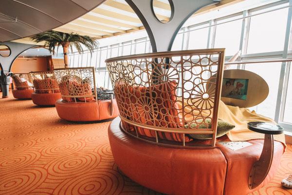Gemütlich Loungeinseln zum Entspannen