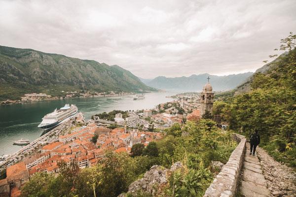 Einmalige Kulissen und Ausblicke in Kotor