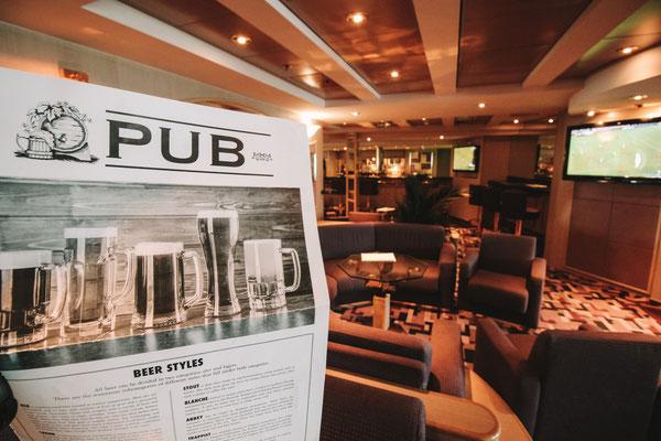 Meine Lieblingsbar an Bord: der bordeigene Pub