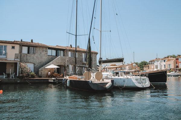 Der Yachthafen von Grimaud - auch kleines Venedig genannt