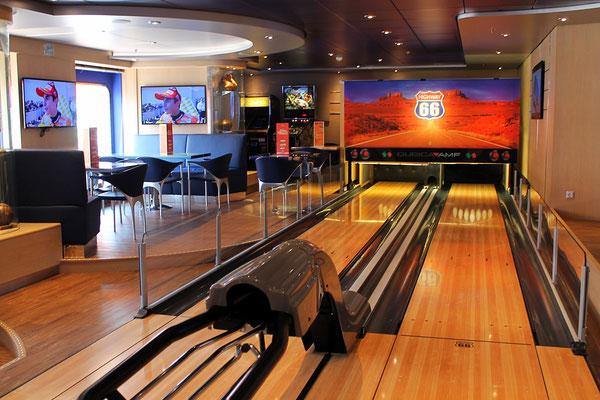 Bowlingbahn an Bord