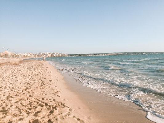 Der Strand von Palma de Mallorca