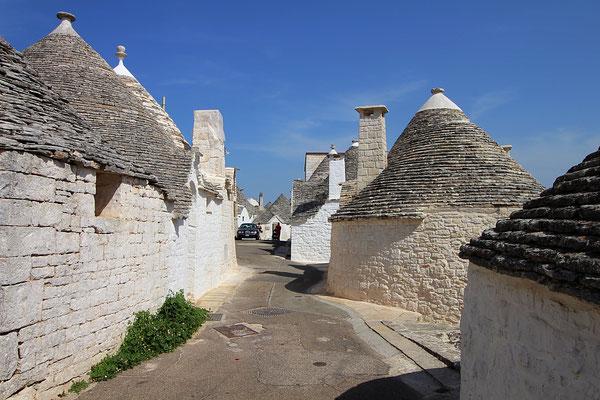 Die Trulli Häuser in Alberobello