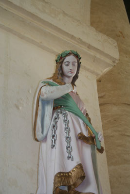 Statue en place dans l'église. Photo Françoise Parizel