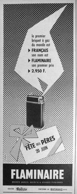 Pub Flaminaire de 1954.