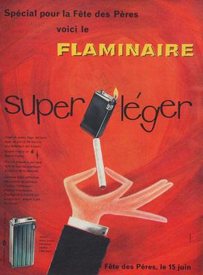 Pub Flaminaire de 1958 publiée dans Paris Match.