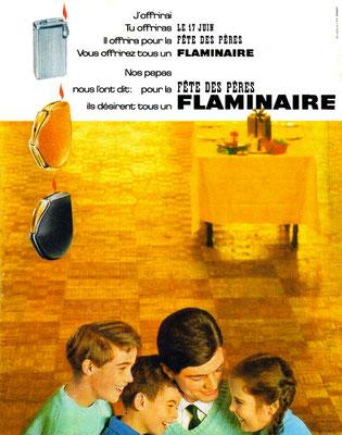 Pub Flaminaire de juin 1962 publiée dans  Paris Match.