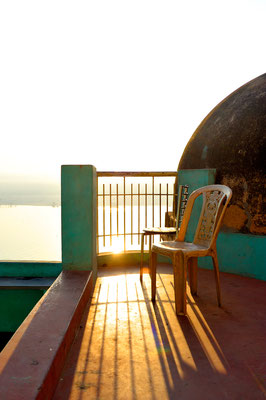Zimmerterrasse Hotel in Varanasi
