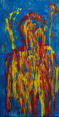 Acryl auf Leinwand 40x80  Foto: Eve Schimmer