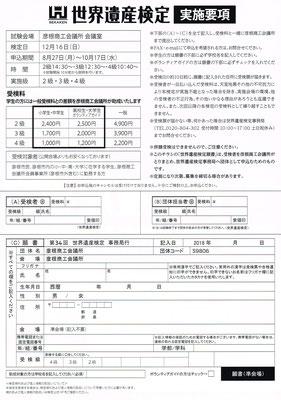世界遺産検定(実施要項)