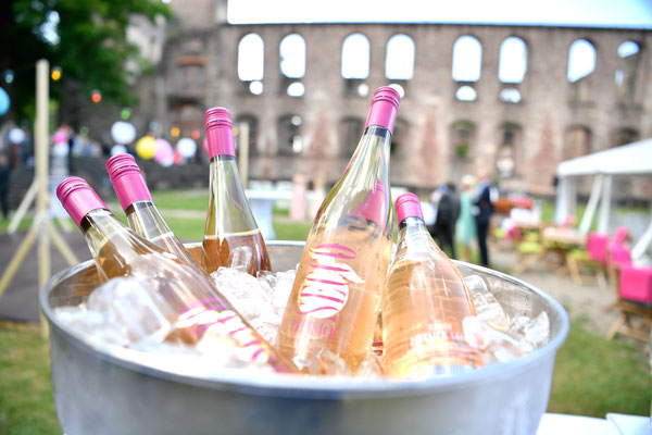 Aperitif zur Hochzeitsfeier in Frauenalb