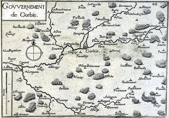 (DR) Corbie-1636-siègedecorbie-valdesomme-chambresdhotes-bedandbreakfast-guesthouse-gitedefrance-Le gouvernement de Corbie en 1634