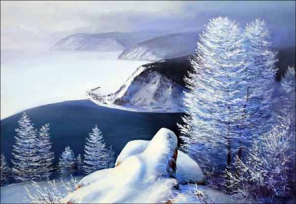 """""""Порт Байкал"""" холст,масло 45х65 2012"""