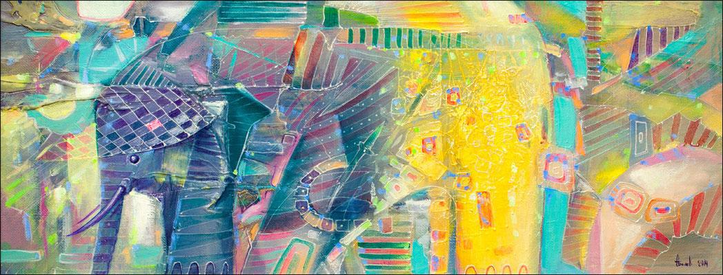 """""""Индийский слон"""" х.м. 36х65 2014"""