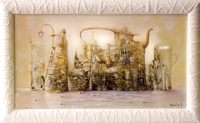 """""""Чай-на-town"""" холст/масло 40см x 70см 2007 г."""