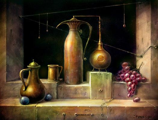 """""""Фруктовое вино"""" 35х45 х.м.  2012"""