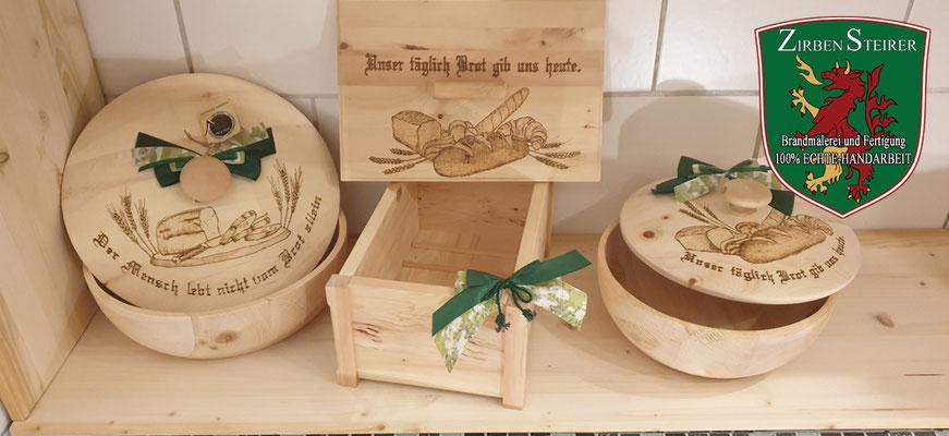 Zirbenholz für Brotdose