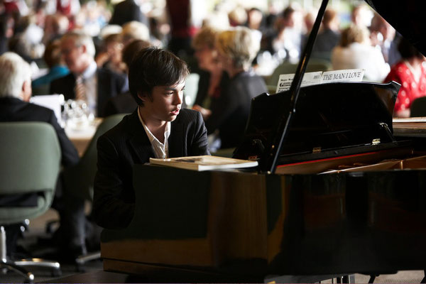 Richard from Hurlstone Agricultural High School performing at Commonwealth Day celebrations in 2009