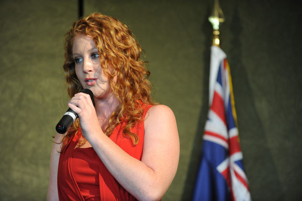 Performer, Jodie Goodwin, Conservatorium High School, at Commonwealth Day lunch in 2010