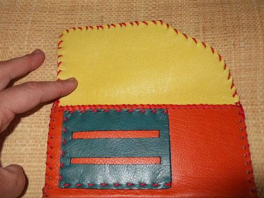 Blague à tabac Cuir veau cousu main (Sellier) modèle unique 40€
