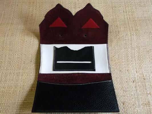 Blague à tabac Cuir vachette/veau cousu main (Sellier) modèle unique 60€