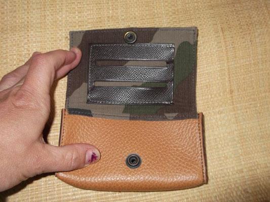 Blague à tabac Cuir veau cousu main (Sellier) modèle unique 60€
