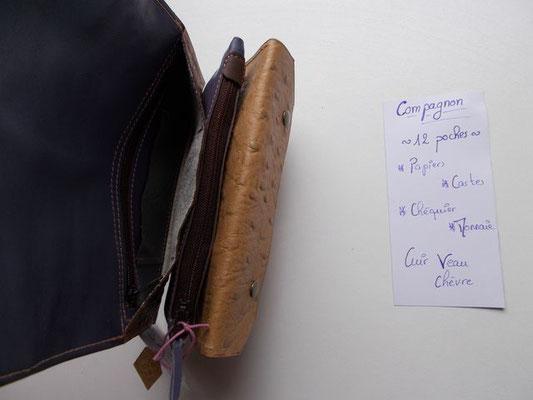 Compagnon cuir 160€ 12 poches