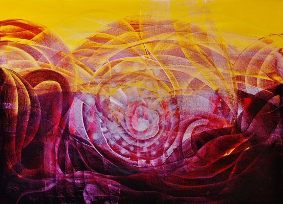 Pangaea, oil on canvas, 100cm por 80cm, 2014, contemporary abstract art