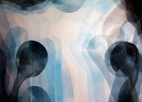 """Essentia"" series, 2015, contemporary watercolor"