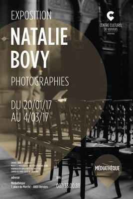 Natalie Bovy -  Exposition Clair-Obscur à la Médiathèque de Verviers