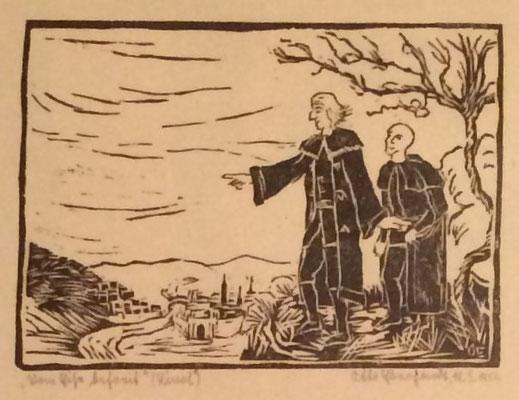 Vom Eise befreit, Otto Eberhardt, 1950, Linoliumschnitt, Papier, 21x15cm, ID1611