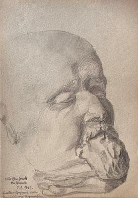 Lenin, Otto Eberhardt, 1948, Zeichnung, Papier, 21x29cm, ID1768