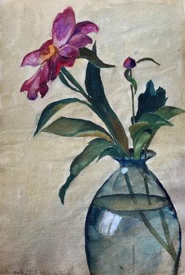 Blume, Otto Eberhardt, 1946, Aquarell, Papier, 20x28cm, ID1794